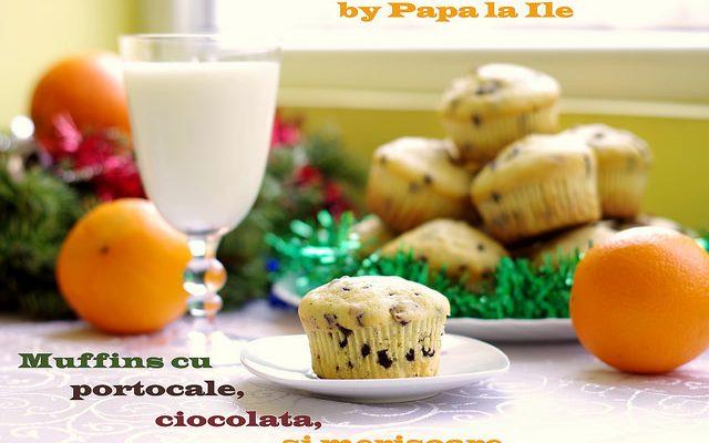 Muffins cu portocale, ciocolată și merișoare…