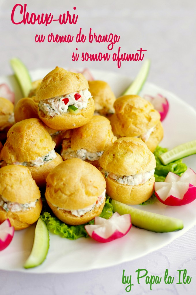 Choux-uri cu crema de branza si somon afumat (1)