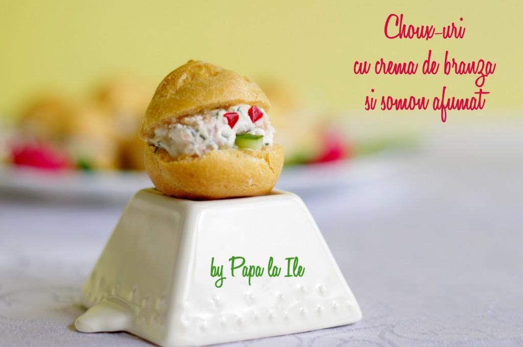 Choux-uri cu crema de branza si somon afumat (2)