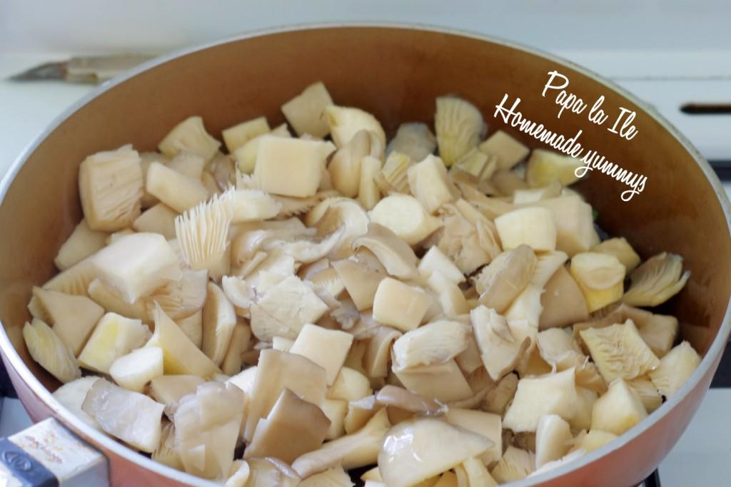Tagliatelle de casa cu pesto de leurda, pleurotus si rosii cherry (5)