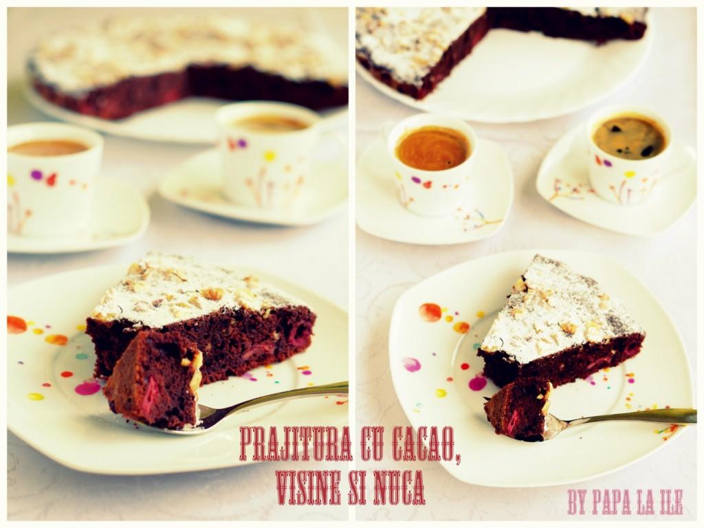 prajitura cu cacao, visine si nuca (10)