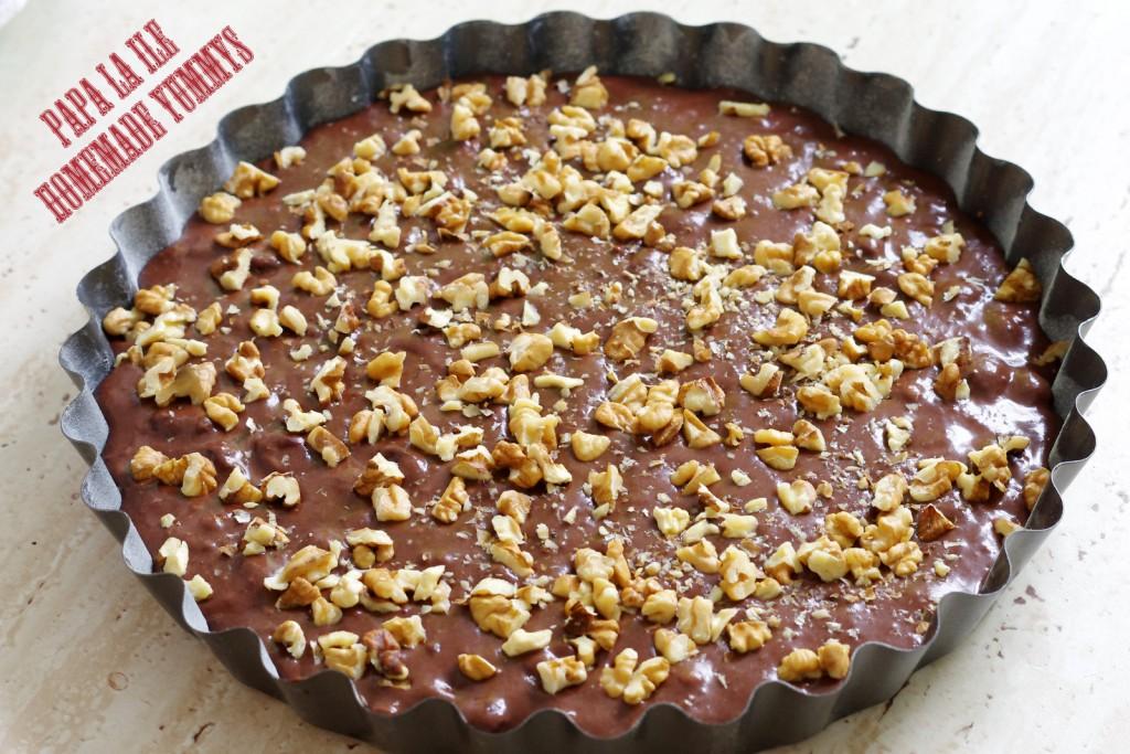 prajitura cu cacao, visine si nuca (4)
