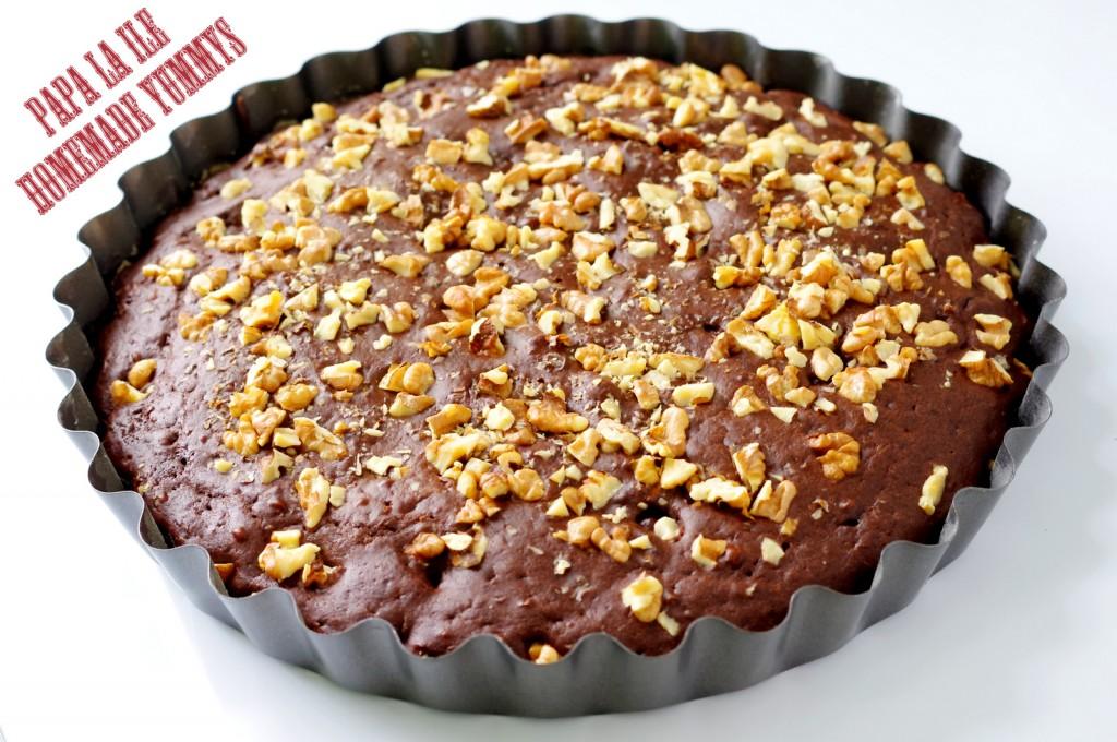 prajitura cu cacao, visine si nuca (5)