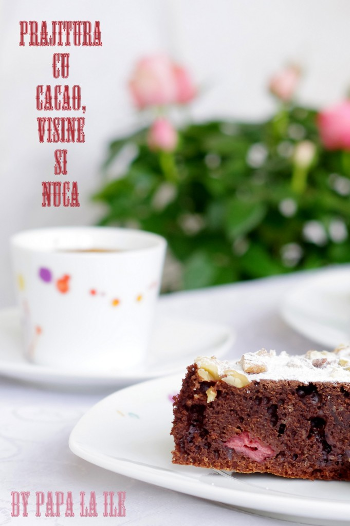 prajitura cu cacao, visine si nuca (8)