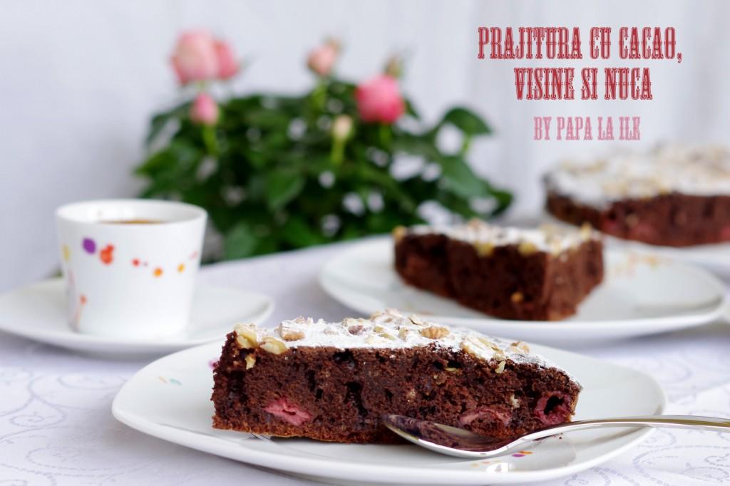 prajitura cu cacao, visine si nuca (9)