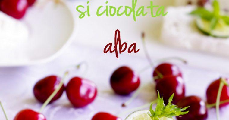 Parfait glace cu cireșe, lime și ciocolată albă…