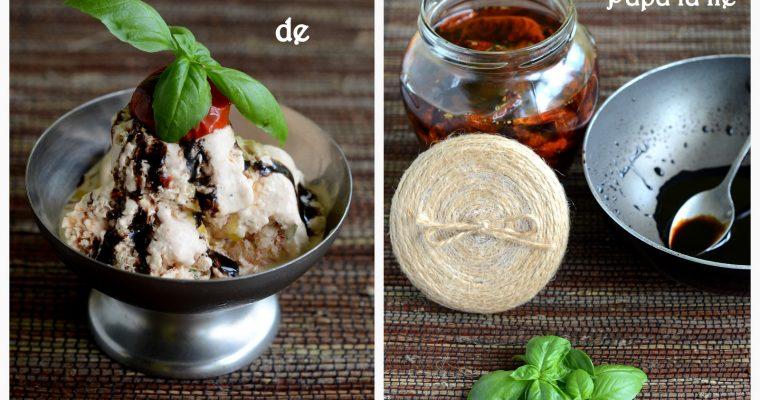 Înghețată de roșii uscate și busuioc…