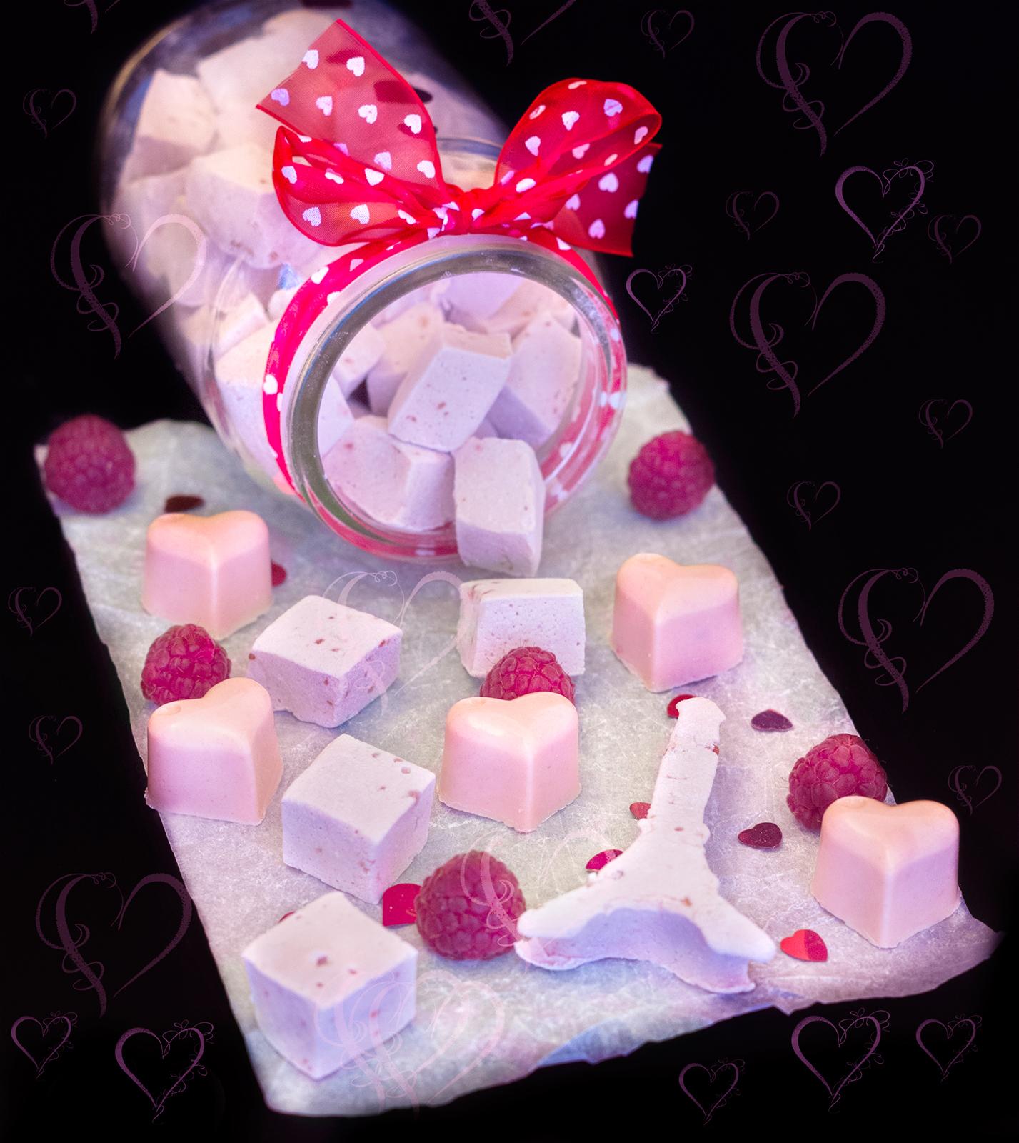 Marshmallow cu zmeură și prosecco
