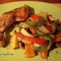 Pulpe de pui cu legume la cuptor…