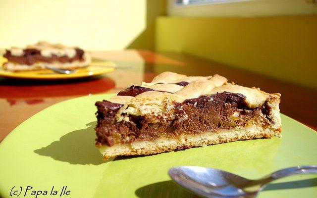 Tarta cu ciocolata si nectarine…