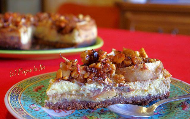 Apple Cheesecake… sau cheesecake de toamna…