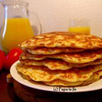 Pancakes cu cașcaval și șuncă…