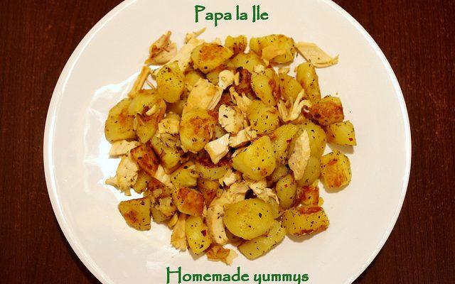 Cartofi picanți cu busuioc și usturoi…