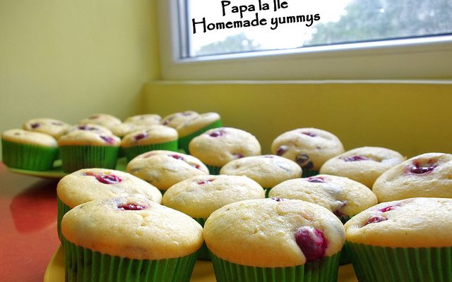 Muffins cu vișine și ciocolată neagră…