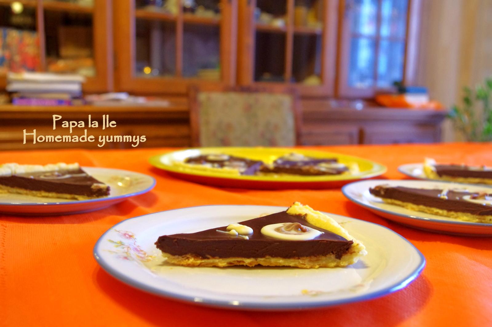Tartă bălțată cu ciocolată…