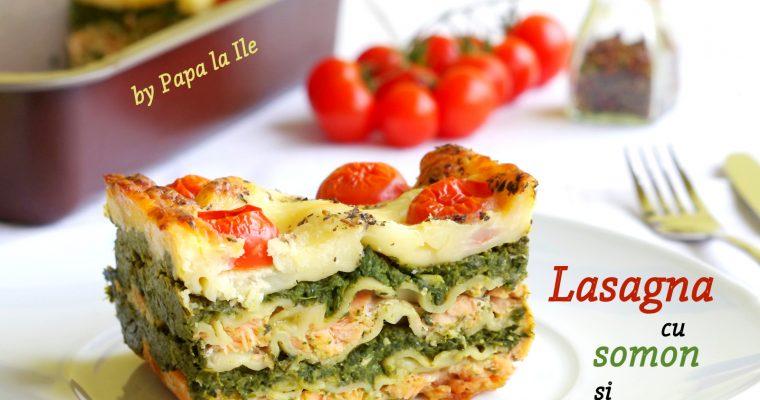 Lasagna cu somon și spanac…