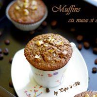 Muffins cu nucă și cafea…