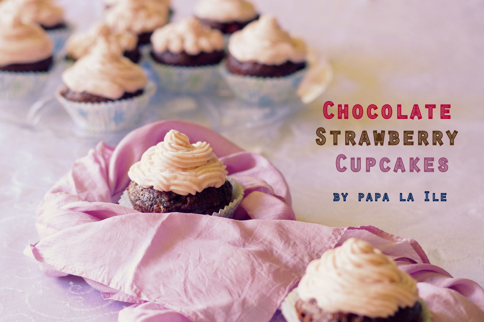 Chocolate Strawberry Cupcakes…
