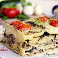 Lasagna cu ciuperci si zucchini…