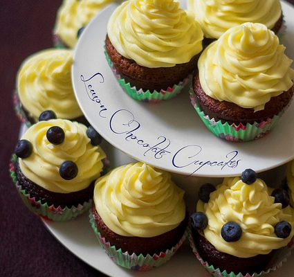 Lemon Chocolate Cupcakes…