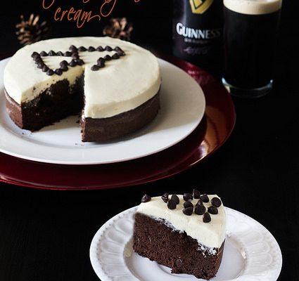 Guinness brownie with mascarpone cream…