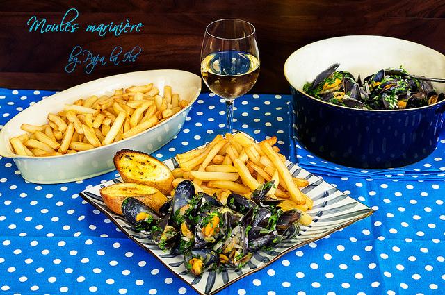 Moules marinière – Midii in sos de vin…