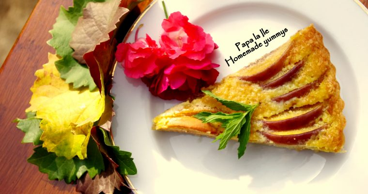 Tartă cu nectarine și frangipane…